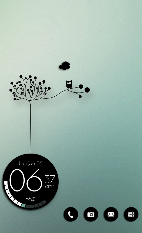 #App #Interface #UI #UX #design Homescreen. Nova Launcher. Zooper Widget. Black & White. Touch of Green. Andriod. Costum. Mason333.