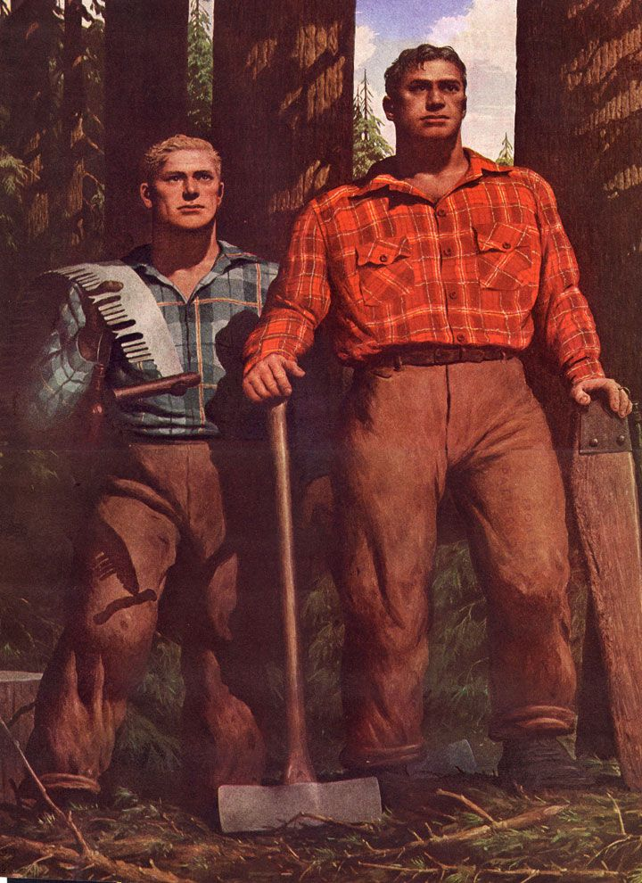 Robert Riggs Lumbermen Compelling yet eerily disturbing.
