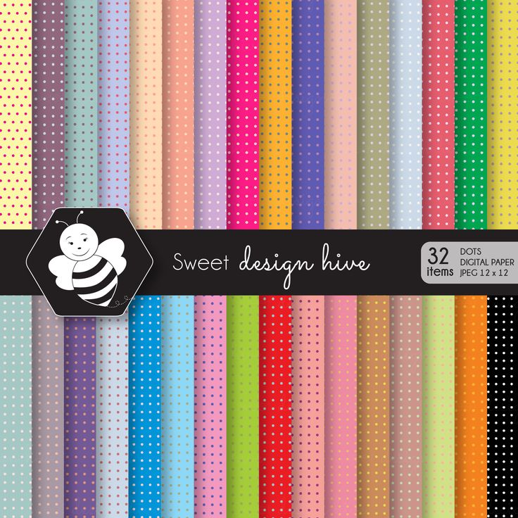 Polka dot digital paper, Bright Colors, commercial use, scrapbook papers, background, DP4004 by Sweetdesignhive on Etsy