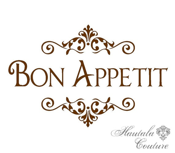 Kitchen Vinyl Decor Bon Appetit by hautalacouture on Etsy, $12.00