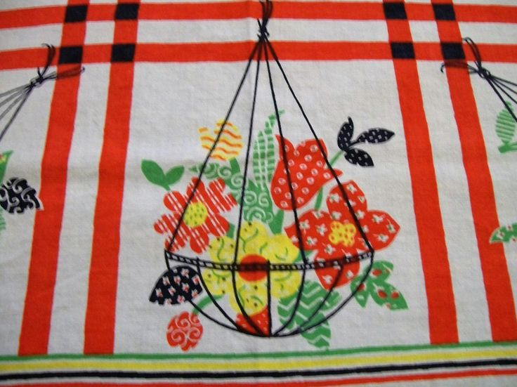 Vintage Tablecloth, Small Tablecloth, Summer Linens, Card Table Tablecloth, Picnic  Tablecloth By