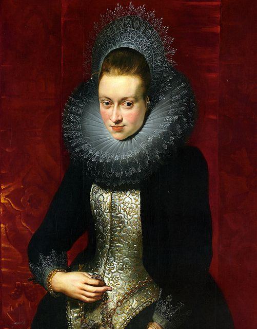 Retrato de mujer joven con rosario   Peter Paul Rubens (1609/10)