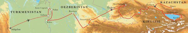 Zijderoute: rondreis Turkmenistan, Oezbekistan, Kazachstan & Kirgizië, 21 dagen | Djoser