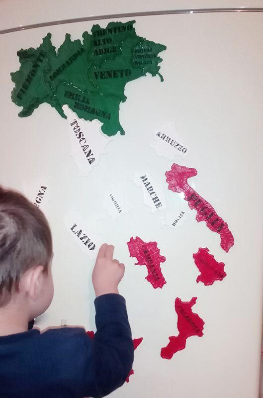 Nuovo Puzzle 3D Regioni Italia con magneti Giochi per bambini