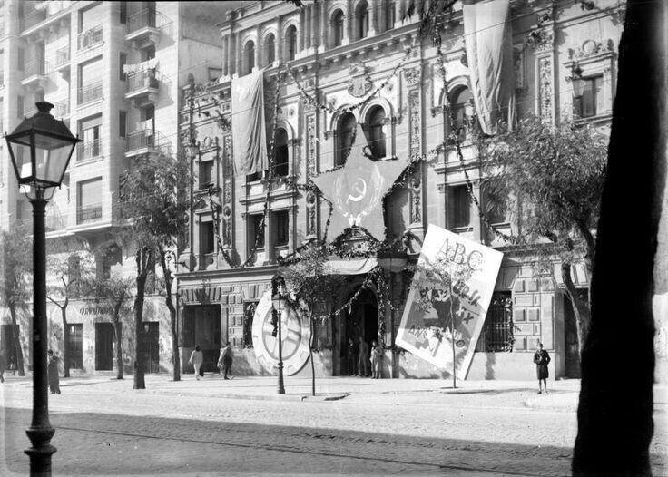 Spain - 1936-39. - GC - El edificio del ABC, expropiado por el Frente Popular