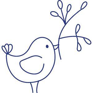 Bluework bird; colour it, sew it, paint it, etc.