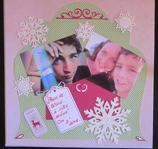 labonoccaz-news: mon premier stamp...  petit tableau pour ma grand mère chérie, moi et mes fils