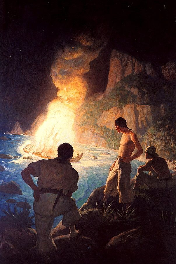 Inspirational Artworks - 'She Makes A Grand Light' by N.C. Wyeth