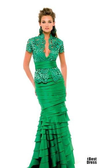 Patricia Avendano..other than the color, this reminds me of a dress that would be worn back in the day