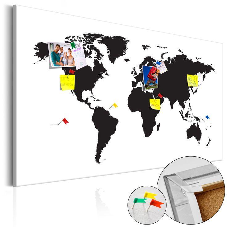 Votre intérieur est à 2 doigts de vous remercier  ---------------------------------------------------------------------  Tableau en liège World Map: Black & White Elegance  à 74,36€  sur https://www.recollection.fr/tableaux-cartes-du-monde/13204-tableau-en-liege-world-map-black-white-elegance.html  #Cartes du monde #mobilier #deco #Artgeist #recollection #decointerior #interiordesign #design #home  ---------------------------------------------------------------------  Mobilier design et…
