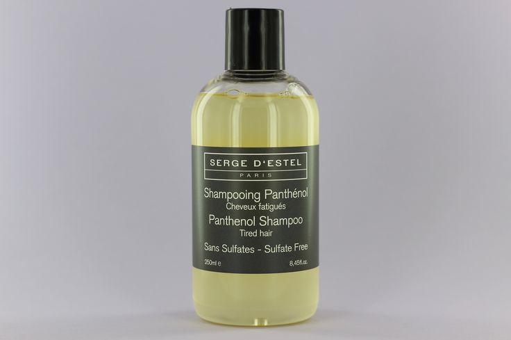 Le panthénol (provitamine B5) répare, gaine et fortifie les cheveux mous. L'huile essentielle de menthe poivrée a une action antiséborrhéique qui équilibre et purifie le cuir chevelu. La protéine de soie apporte de l'hydratation et de la brillance et aide au démêlage.  #sergedestel #paris #sanssulfate #sulfatefree #panthenol #shampoing #shampoo #handmade #greencosmetic #cosmetique #naturel #local #quality #hair #cheveux