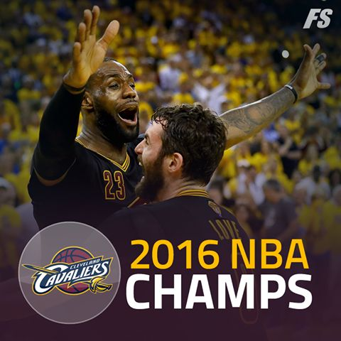 Cleveland Cavaliers WIN! First team in NBA history to erase a 3-1 deficit in the ‪NBA Finals‬! LeBron James triple-doubles as the Cavs win 93-89! 6/19/2016