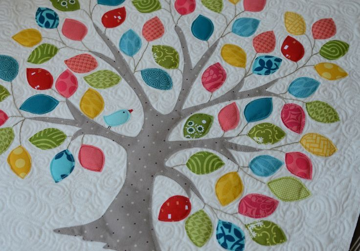 tree quilt patterns free | followed the pattern exactly, free-motion stitching several times ...