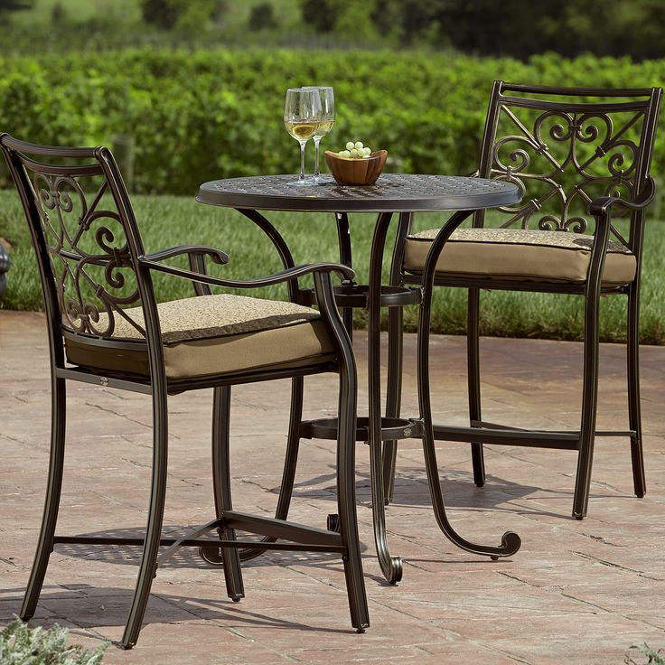 parkside 3 piece bistro set limited sears outdoor - Sears Patio Furniture