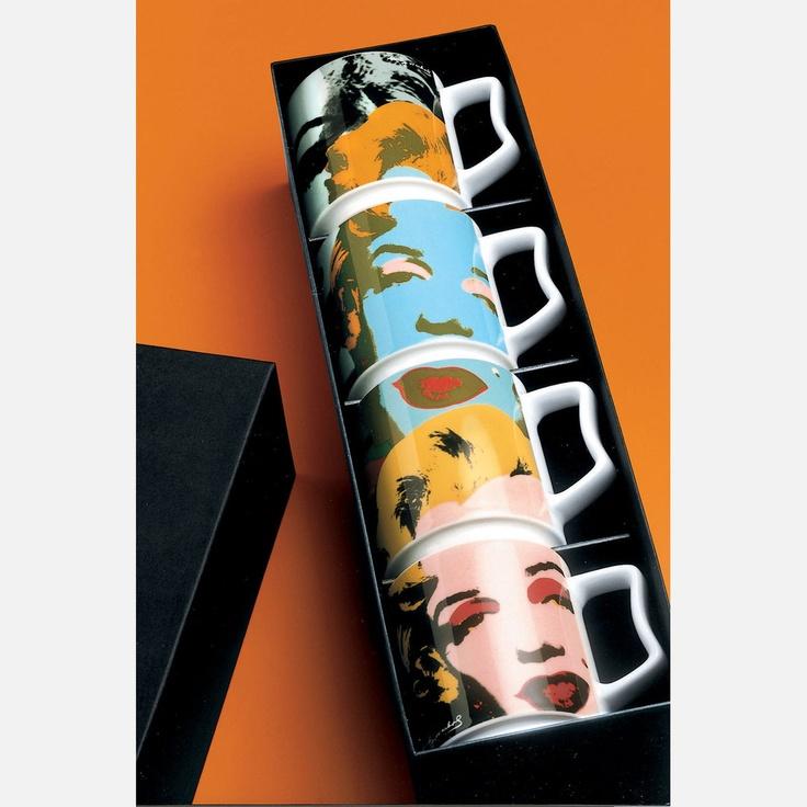 marilyn monroe mug set of 4 made by rosenthal kitchen pinterest products. Black Bedroom Furniture Sets. Home Design Ideas