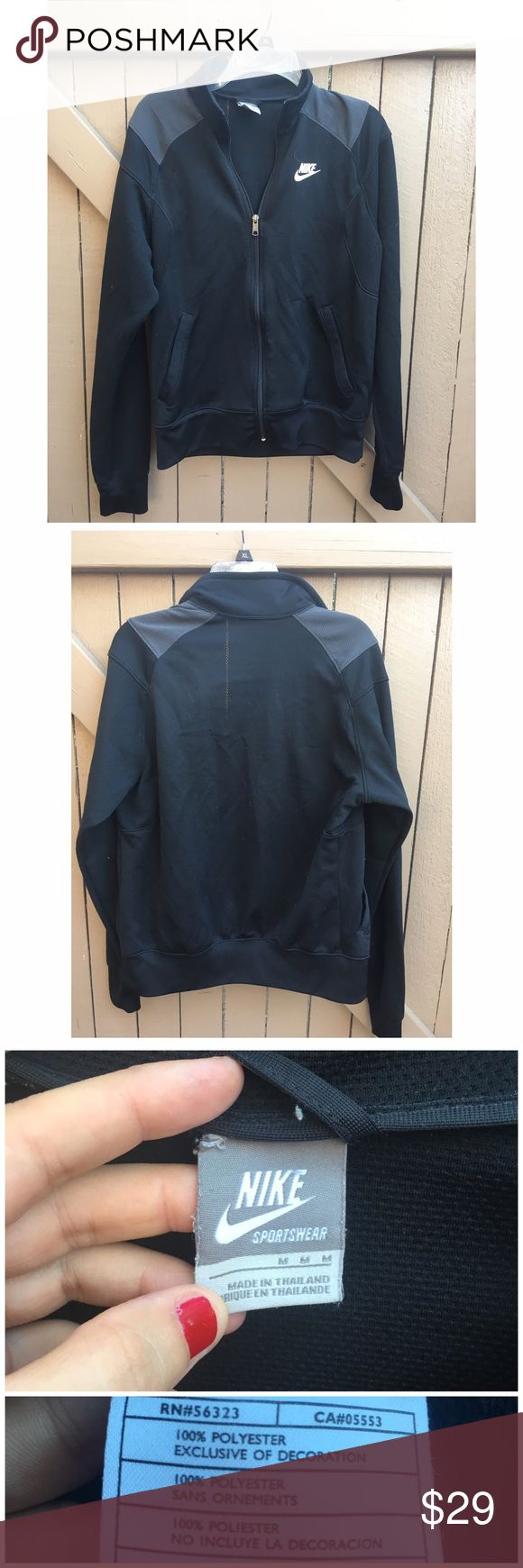 Nike track jacket Perfect for working out or for running errands during the day. It is in very good conditions . No heavy signs of wear. Nike Jackets & Coats