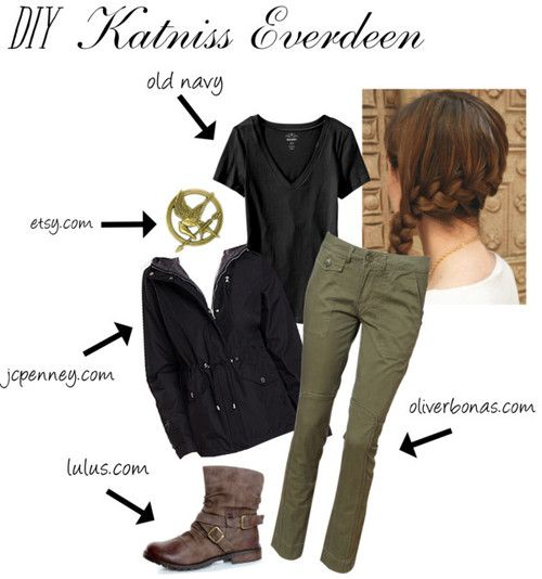 Katniss Everdeen arena costume - PROOOOOOOBABLY gonna do this... probably. not sure. let's see...