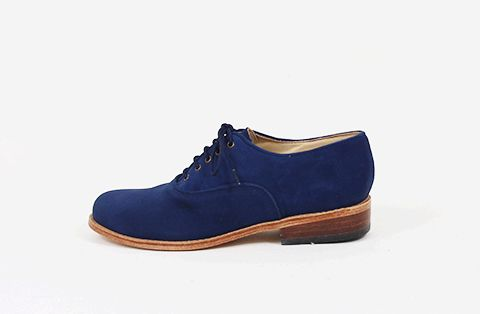 &Attorney Moriati Laceup in Blue Suede
