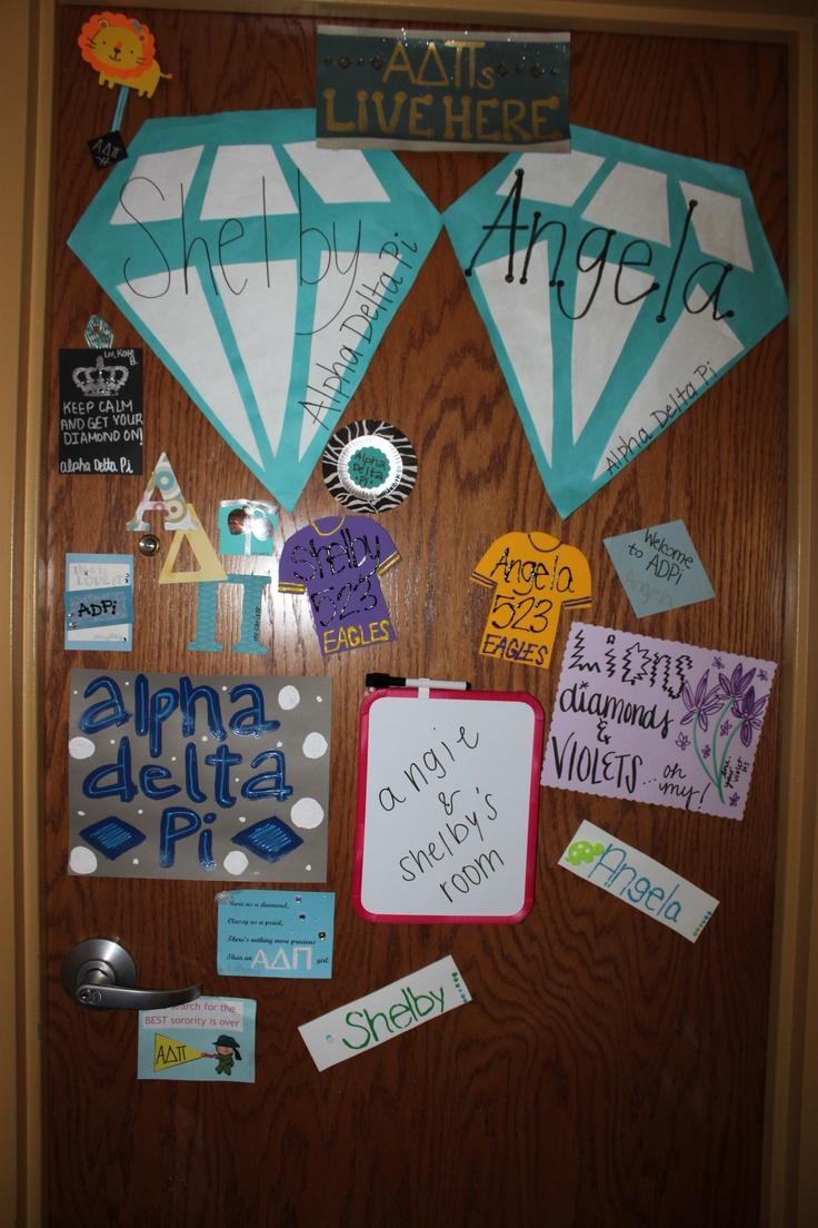 Door decorations Alpha Delta Pi style!