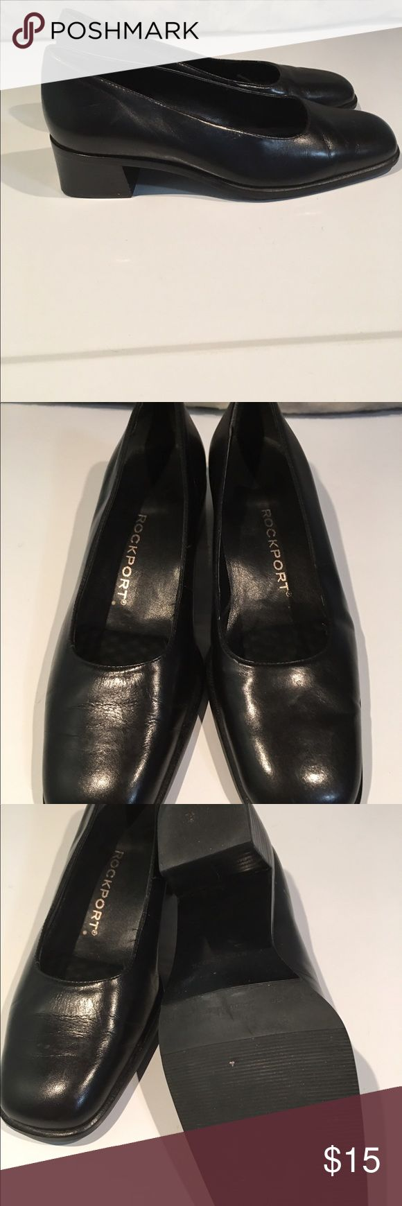"Classic Rockport Black Pumps  size 6 These are beautiful and classic!!! Low 1"" heels. Tons of life left!!! We are cleaning out closets and have many designer items that need to find a new home for. Bundle bundle bundle!!! Rockport Shoes Heels"