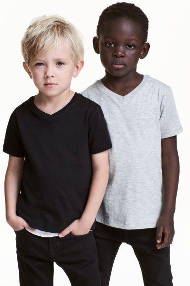 T-shirt 2-pak - Czarny - Dziecko   H&M PL 1