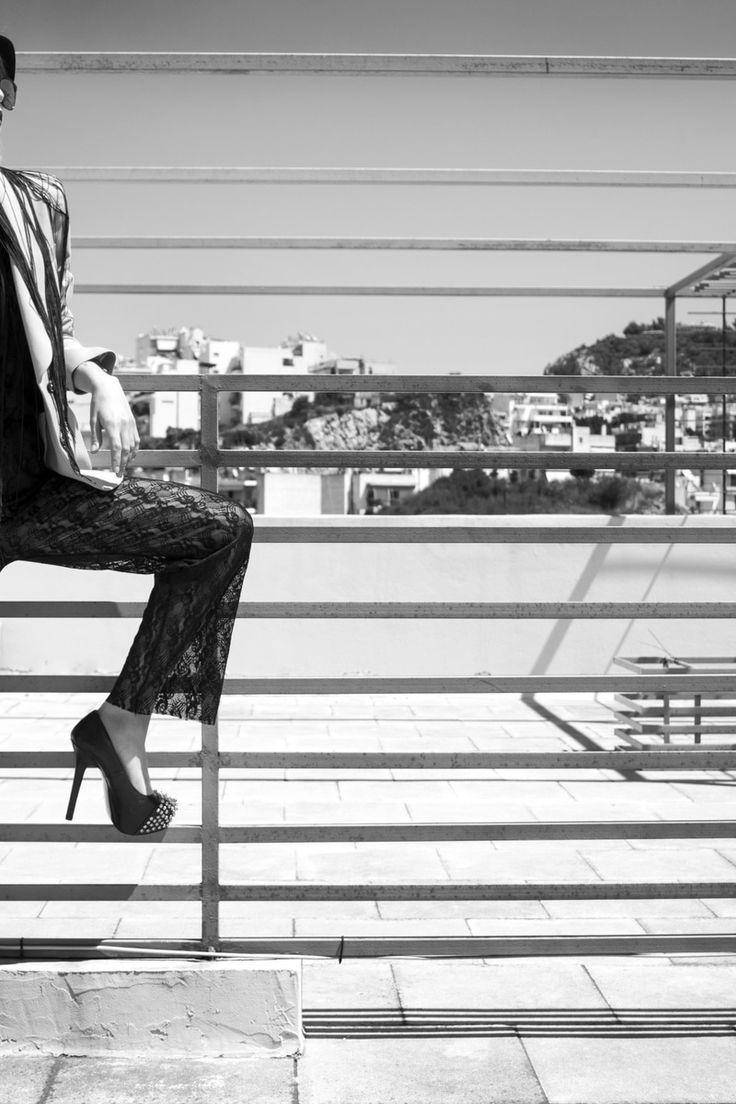 black-and-white, girl, model