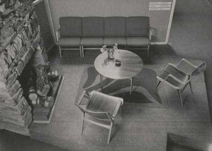 AX chairs, Peter Hvidt & Orla Mølgaard-Nielsen. Shown at Købestævnet, Fredericia 1950, photo by Herluf Lykke