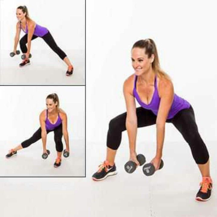 Sumo squat/ side lunge. Saddlebag buster   Weight Loss ...