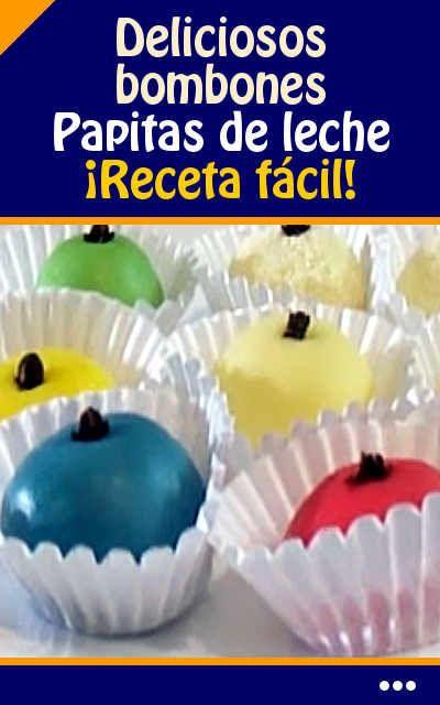 Cómo hacer #deliciosos #bombones. Papitas de leche. ¡Receta fácil! #papitas #venezolana #videos #postre #dulce