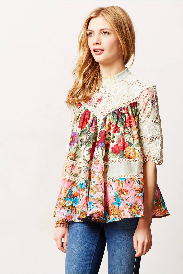 clothingblouses & buttondownsfrangipani peasant top Frangipani Peasant Top $395.00