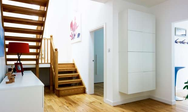 1000 images about modern wooden stairs on pinterest for Quarter landing staircase