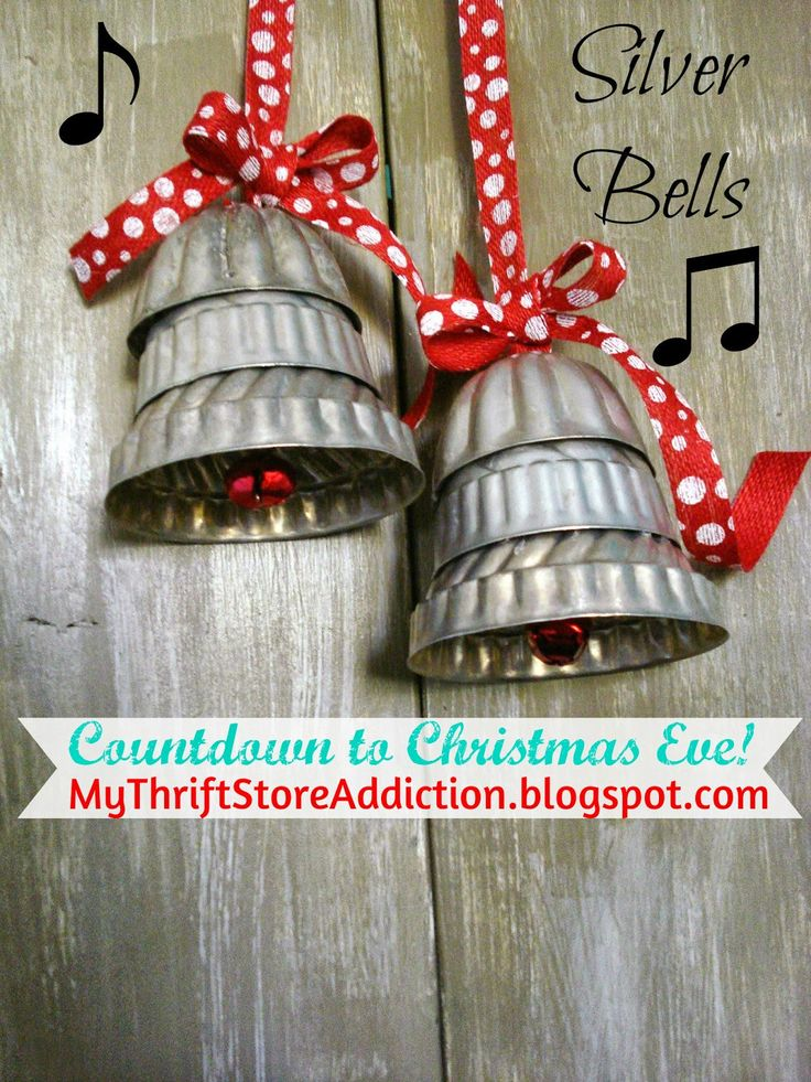 My Thrift Store Addiction : Countdown to Christmas Eve 4: Silver Bells! #PeaceJoyDIY #Repurpose #SilverBells