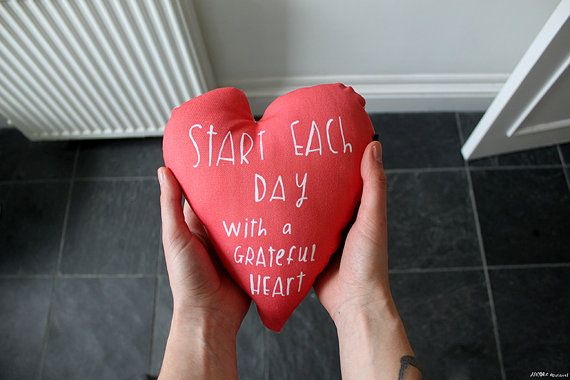 Love this and love the idea.  Grateful heart cushion