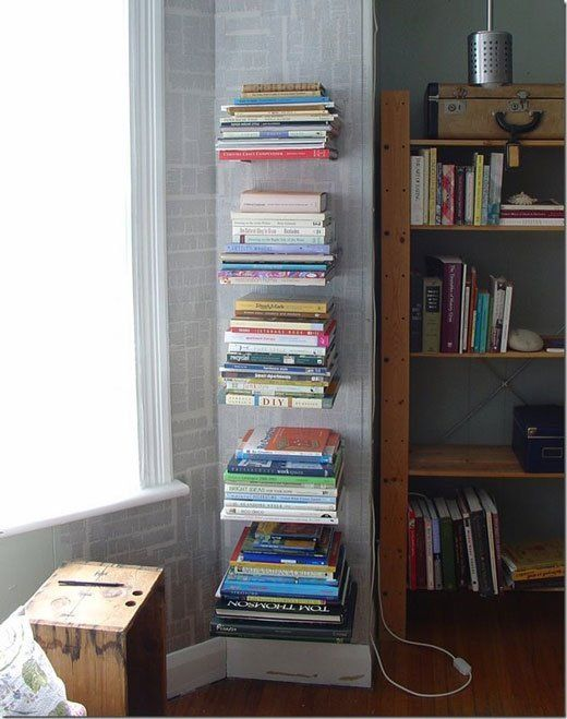 create an invisible book shelf without ruining a book