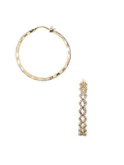 Noir Jewelry Blue Ridge Medium Hoop Earrings
