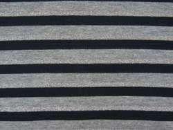 Tissu Jersey Rayures Gris / Noir / Lurex Argent