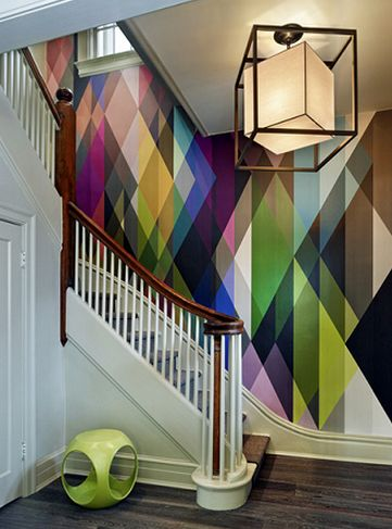 """Vanillawood is a supplier of Cole and Son! This multi color wallpaper is sold as one large geometric panel. Width: 124"""" Repeat: 0"""" 7 Drops per panel, each panel is 17.72"""" long, full length is 3.28 yar"""