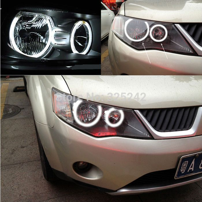 For Mitsubishi Outlander 2007-2008 Non projector Excellent Ultra bright headlight illumination CCFL Angel Eyes kit Halo Ring - http://www.aliexpress.com/item/For-Mitsubishi-Outlander-2007-2008-Non-projector-Excellent-Ultra-bright-headlight-illumination-CCFL-Angel-Eyes-kit-Halo-Ring/32285734130.html
