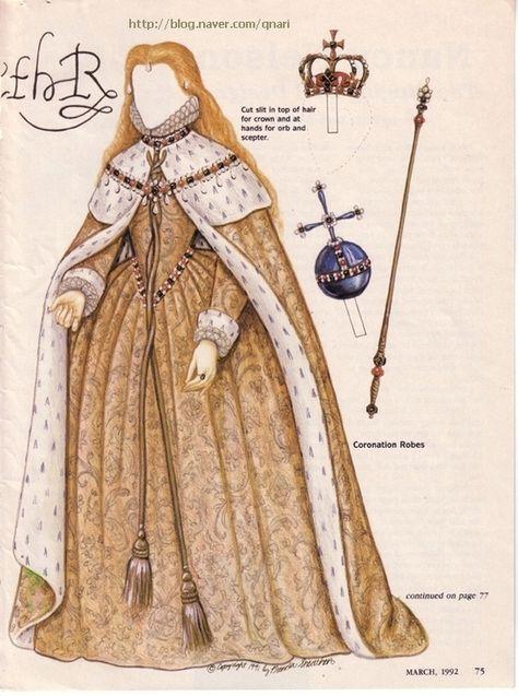 종이인형 (엘리자베스 1세 여왕) : 네이버 블로그