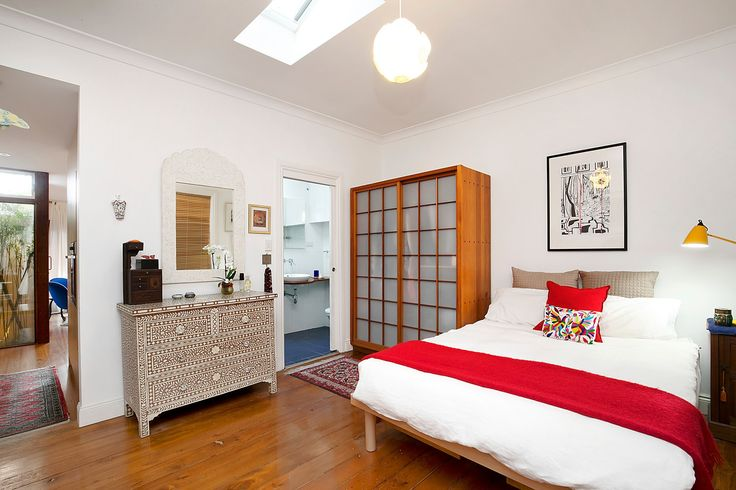Bedroom area has ensuite-style bathroom  - 41 Starling Street Lilyfield at Pilcher Residential
