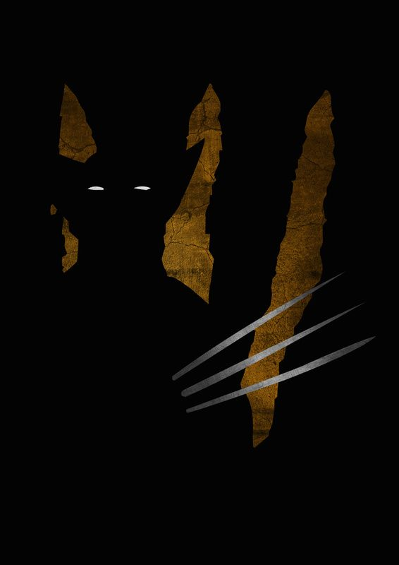Wolverine Shadow Art from Lily's Factory (http://lilysfactory.fr/), a French graphic artist