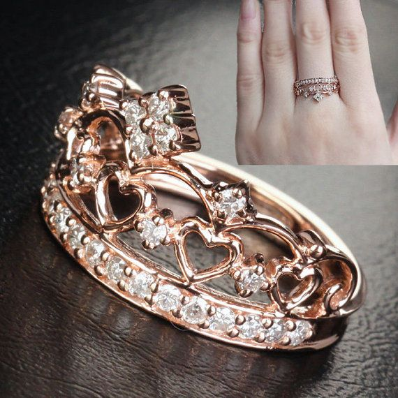 crown engagement ring by thelogr wedding pinterest tiara ring