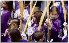 Domingo de Ramos, niños en La Pollinica