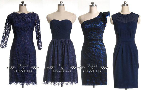 Navy color for Bridesmaid's dresses for Fall 2014 | Vestidos de madrinas en color azul marino para el otoño 2014