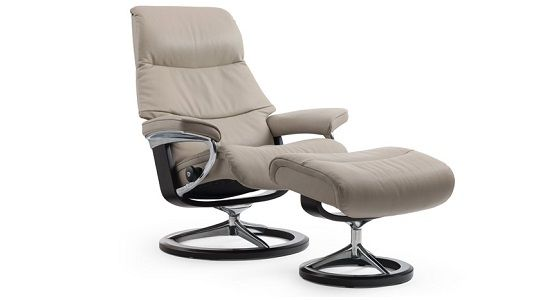 Ekornes Stressless View Recliner U0026 Ottoman | Ambiente Modern Furniture