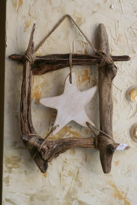 Star * Driftwood * Twine * I now know what to do with driftwood from our Oregon Coast trip...