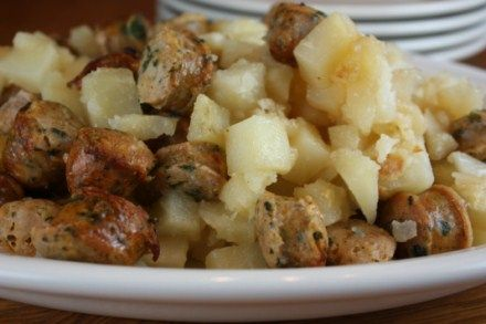Sausage and Potatoes- Two ingredients and so good!