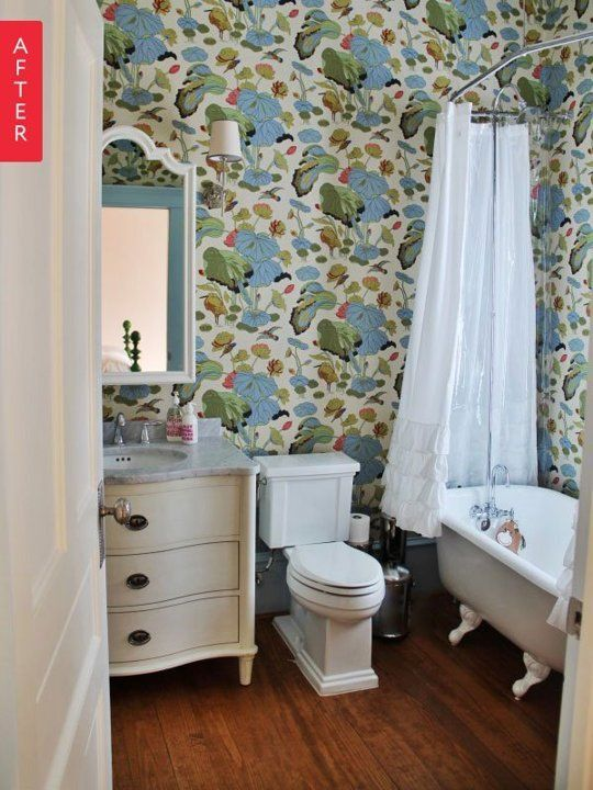467 best Wallpaper images on Pinterest | Bath remodel, Bath room ...