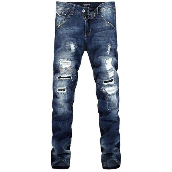 Easy Hipster Men Stylish Straight Washing Hole Slim Trousers Casual... ($60) ❤ liked on Polyvore featuring men's fashion, men's clothing, men, men's clothes, jack hills, jeans, slim fit mens clothing, hipster mens clothing, mens apparel and mens clothing