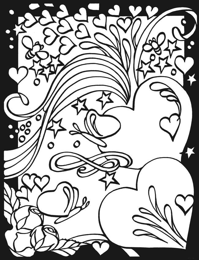 heart and star coloring pages | Pin on Coloring Pages